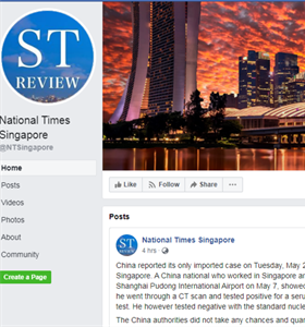 Facebook blocks Singapore users' access to National Times Singapore...