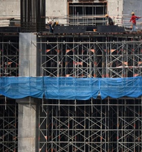 Propped up by government support last year, construction sector could...